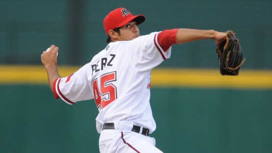 Martin Perez makes his first start of the spring against the Rockies today as he tries to secure a spot in the Rangers' rotation.
