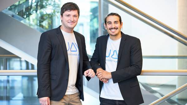 Marc Mengler, CEO and co-founder of understand.ai, and Philip Kessler, CTO and co-founder of understand.ai.