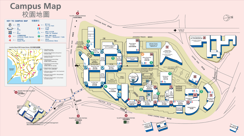Hong Kong Polytechnic University campus map