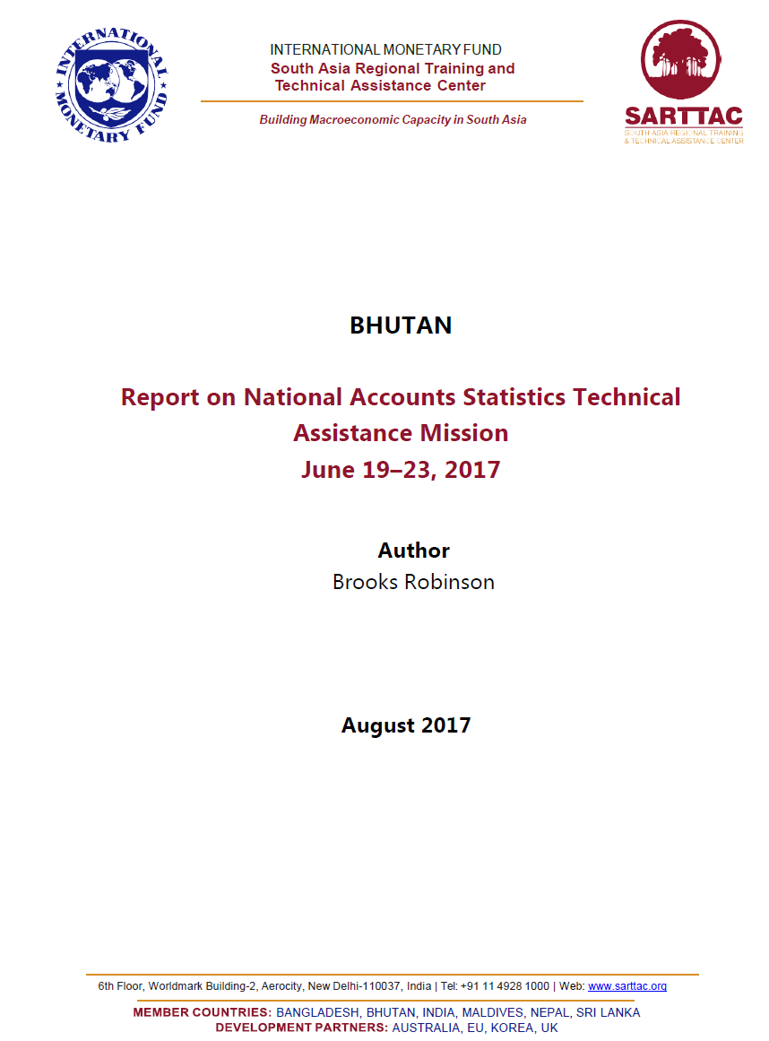 Workbooks understatement worksheets : IMF assists to improve Bhutan's National Accounts and FISIM