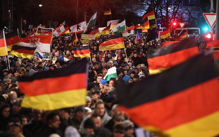 PEGIDA marching in Germany