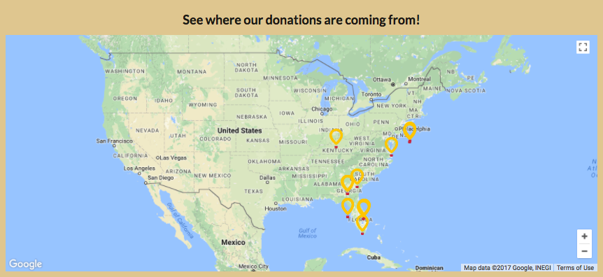 the google maps api into my final project in order to mark on a map where donations are coming from with the childrens miracle network balloons