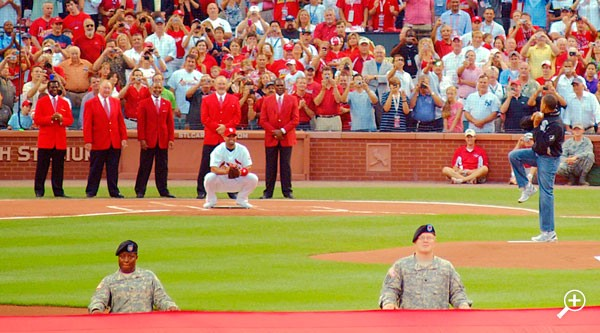 The first pitch by the President of the United States
