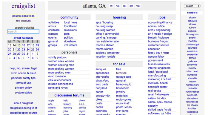 Can Craigslist Ux Be Improved Samuel Cheng Where are people in athens going now to find hookups with no strings attached? can craigslist ux be improved samuel