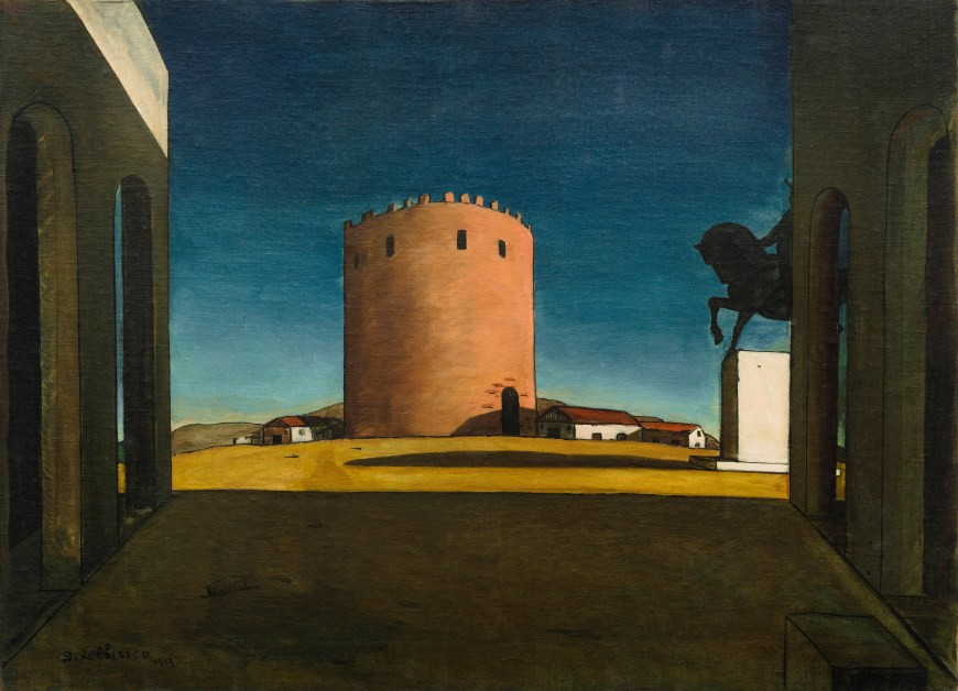 The Red Tower About De Chirico's Paintings Dreams And Landscapes Beauteous Castle Building And Remodeling Painting