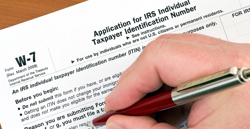 Irs Individual W 7 Form Itin Certifying Information