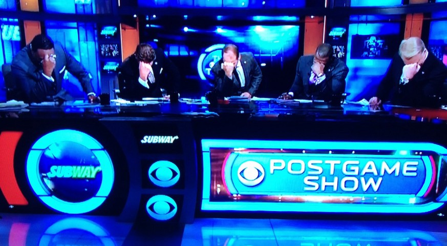 CBS NFL Post Game Show Tebowing