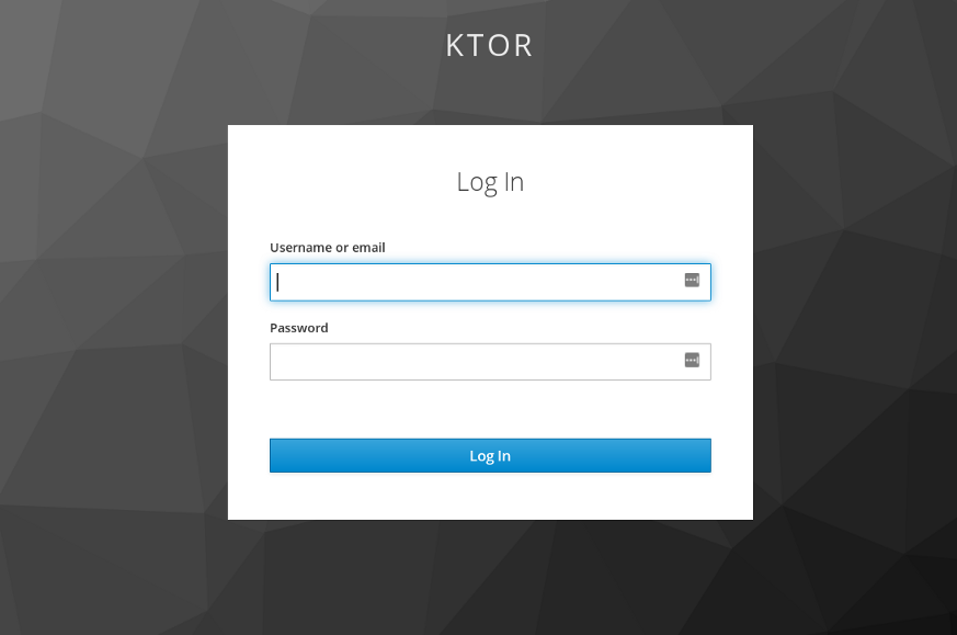 Keycloak authentication portal