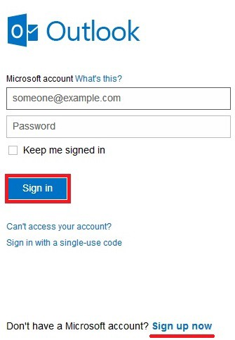 Hotmail com sighnin