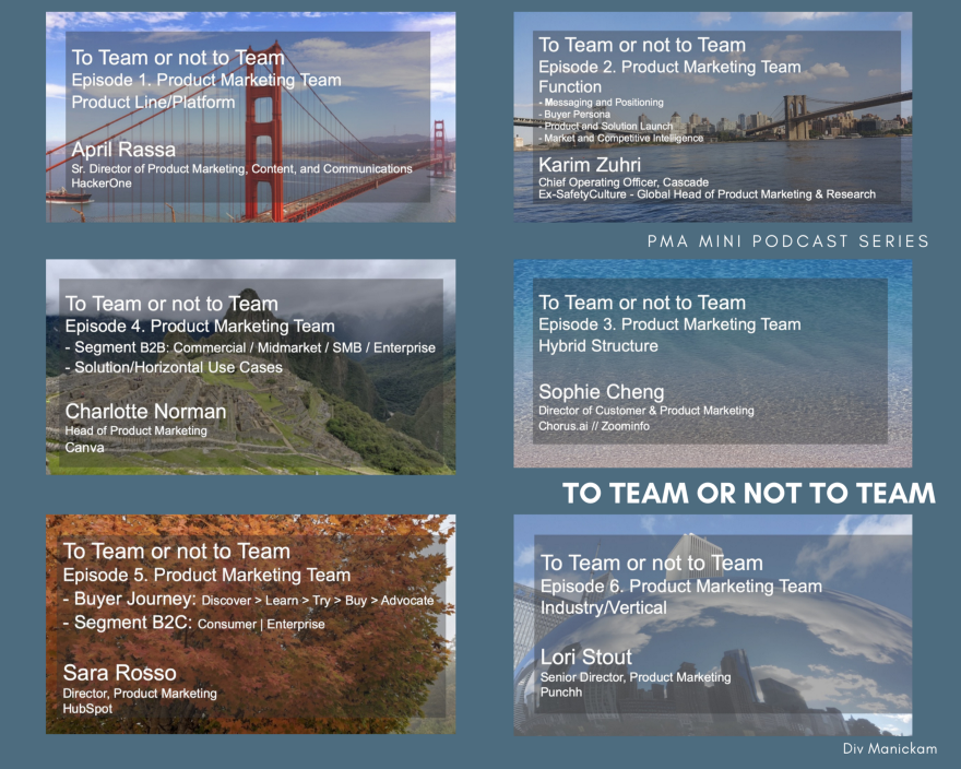 PMA mini-podcast series: To Team or Not to Team