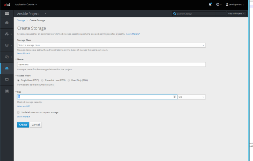 Deployment of Ansible AWX on OpenShift Origin