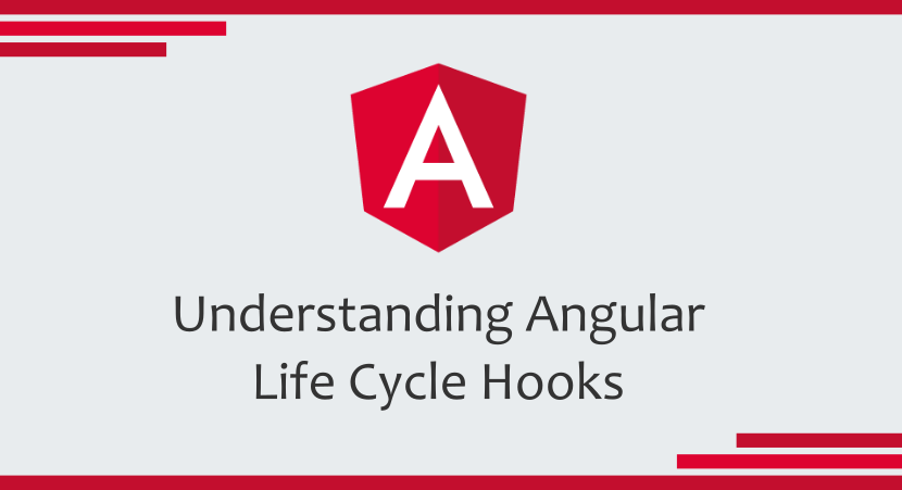 angular logo with article's title underneath