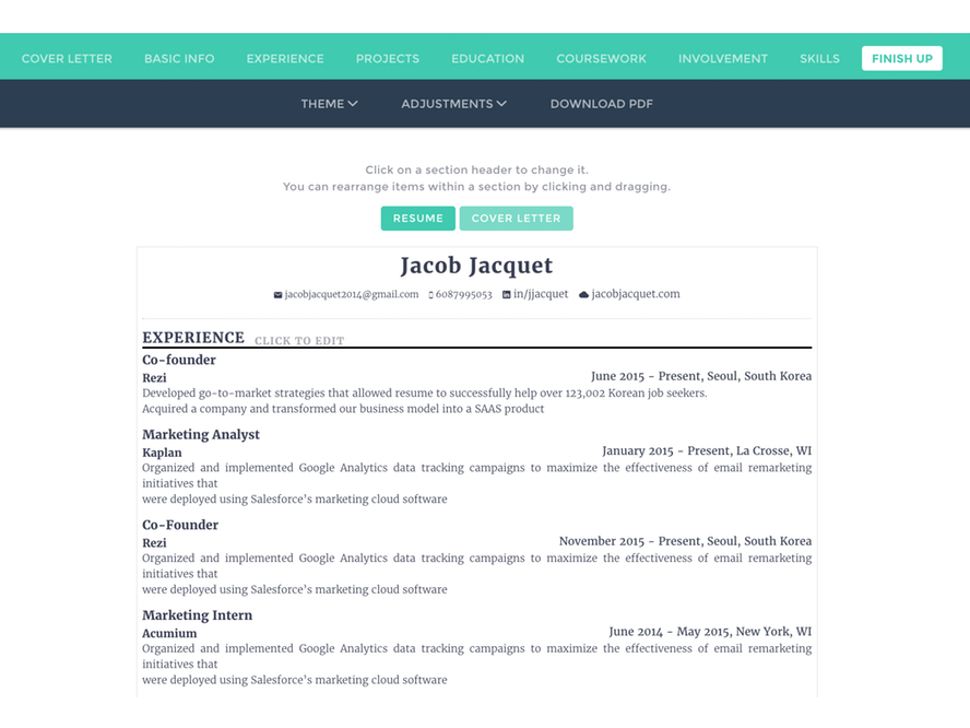 rezi an awesome tool to design your ats optimized resumes instantly