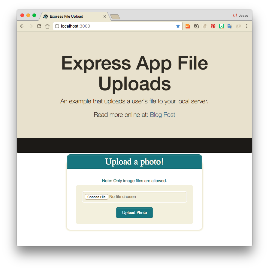 Nodejs Express App What We Are Building Today