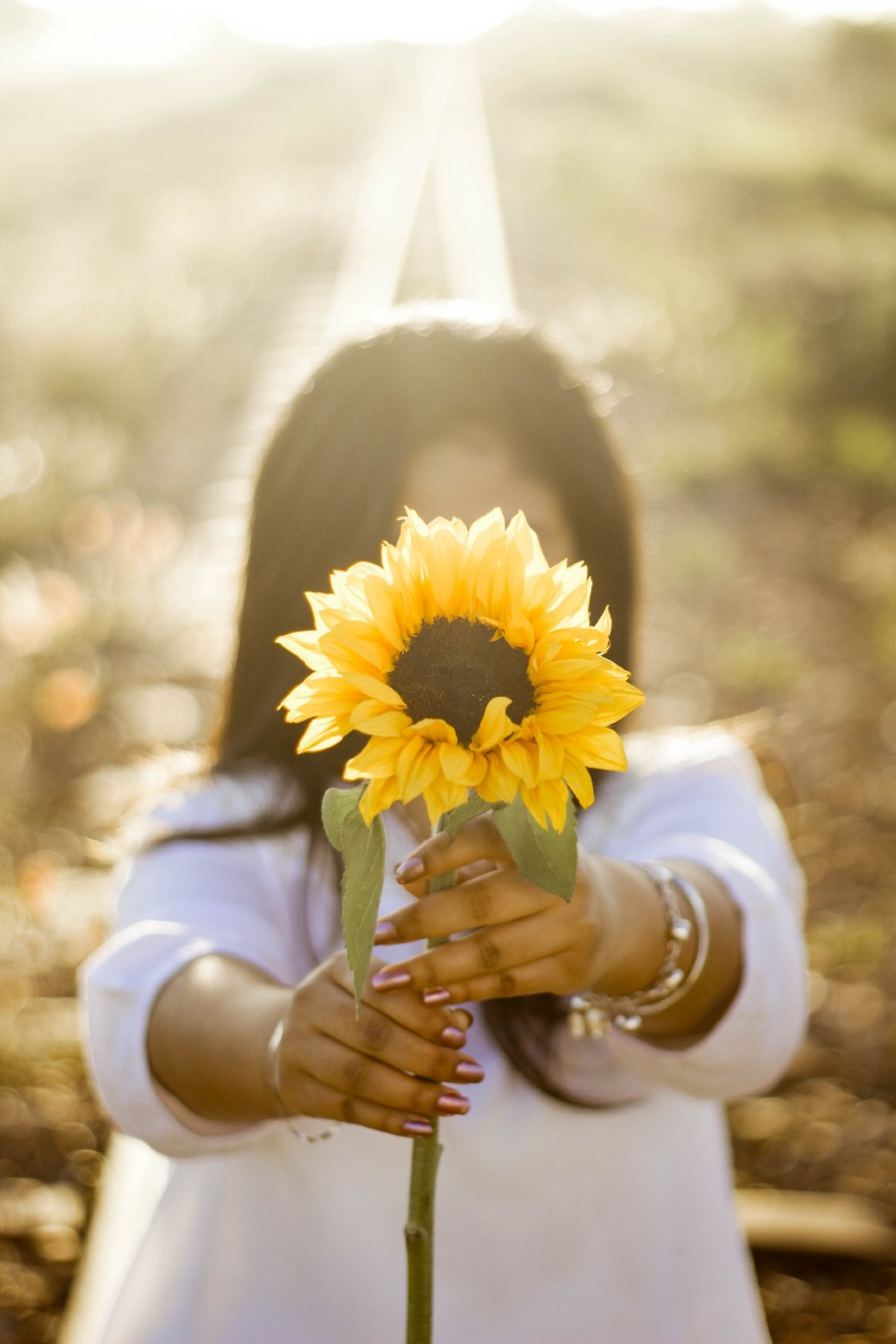 personal growth woman sunflower