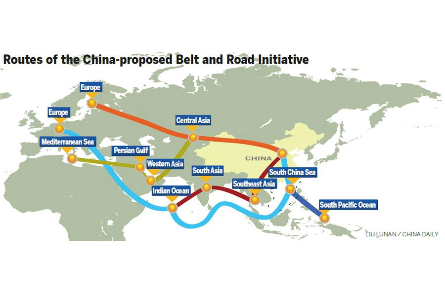 Bildergebnis für China's Belt and Road Map