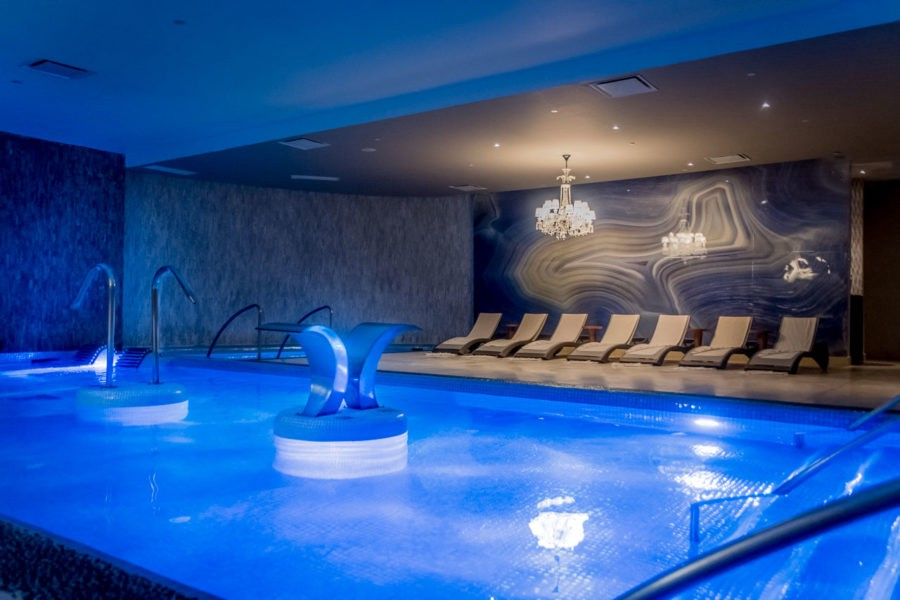The hydro therapy pool at Awe Spa at Moon Palace Jamaica Grande