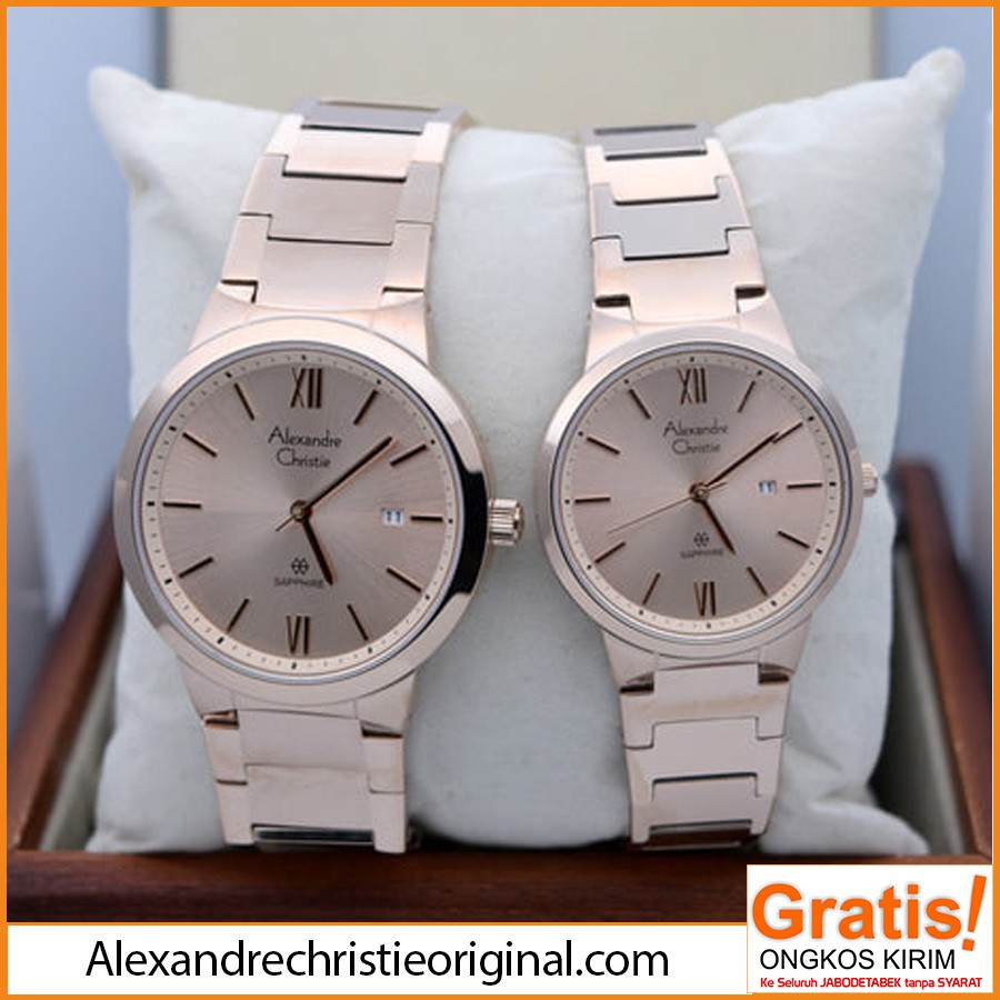 Alexandre Christie Jam Tangan Pria Leather Strap Black Ac 6225 Mc 8516 Detail Couple Classic 8544 Md Bsssl Men Silver Dial Stainless Steel