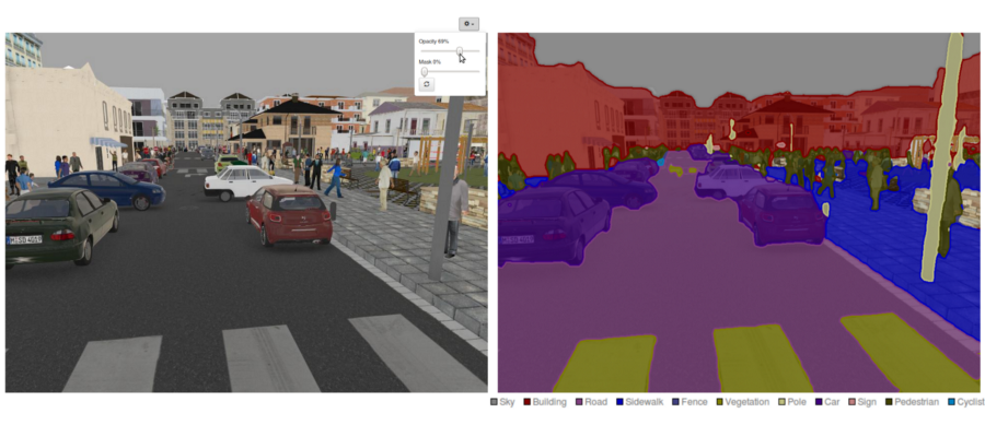 example of semantic segmentation in street view
