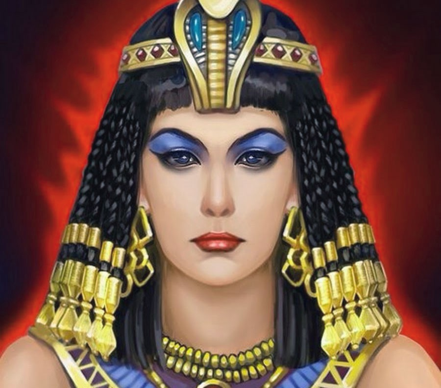 Cleopatra, famous queen of Egypt.