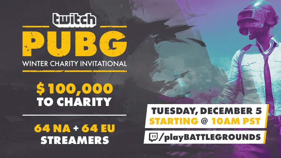 Chicken Dinners For Charity Don T Miss The 100k Twitch Pubg Winter