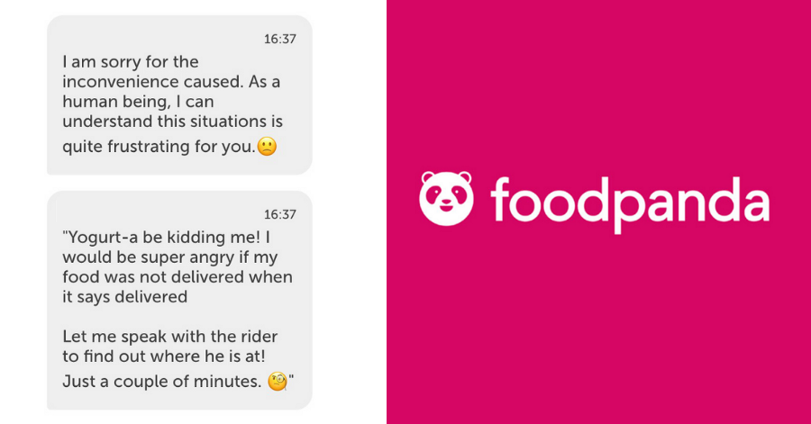 Foodpanda failed humor customer service