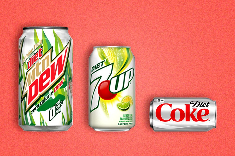 Every Major Diet Soda, Ranked by How (Un)healthy They Are