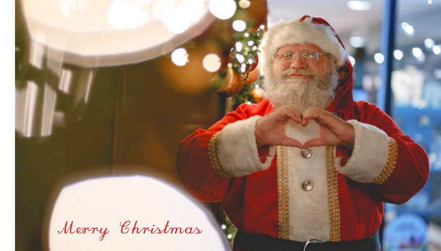 with december rolls around christmas is coming soon mockplus have created a special project with lovely santa in a room decorated with lights and gifts - When Was Christmas Created