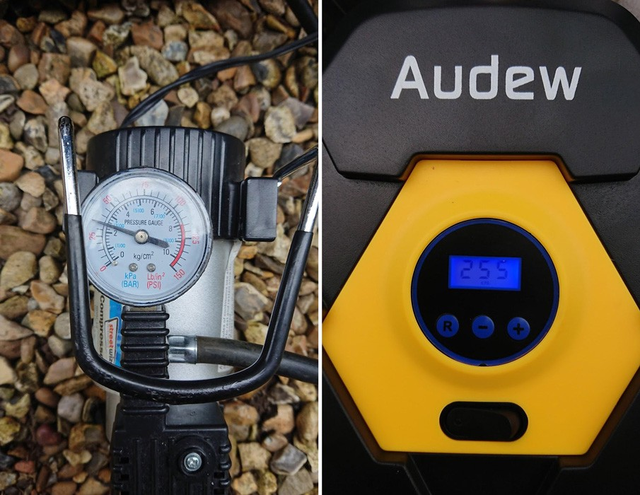 Audew 150 psi portable air compressor pump review audew official the compressor automatically inflates the tyre to desired pressure and then stops interestingly once the target pressure was reached the compressor keeps publicscrutiny Image collections