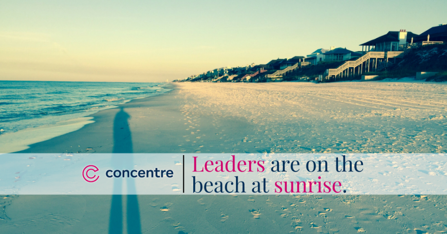 sunrise is for leaders - social graphic