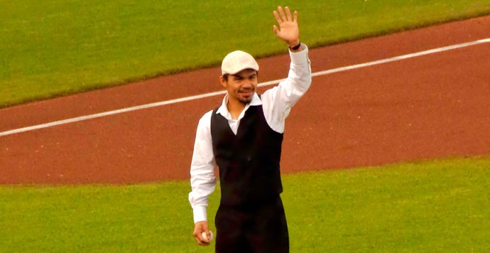 Manny Pacquiao's first pitch at AT&T park (by bryce_edwards on Flickr)