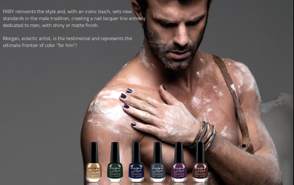 FABY — Italian nail couture for men – Grey Sergeant – Medium