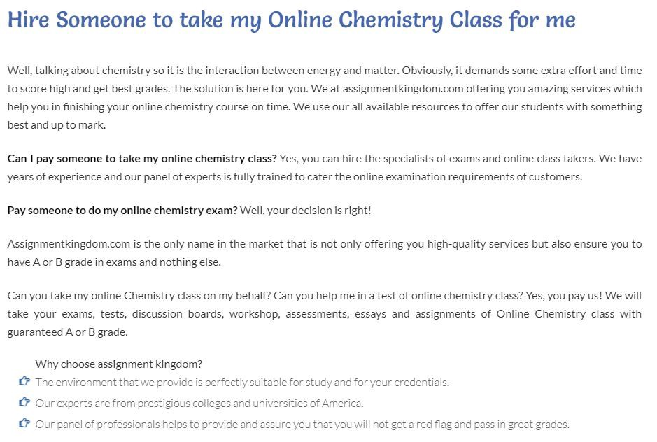 Take My Online Chemistry Class For Me  Assignment Kingdom  Medium