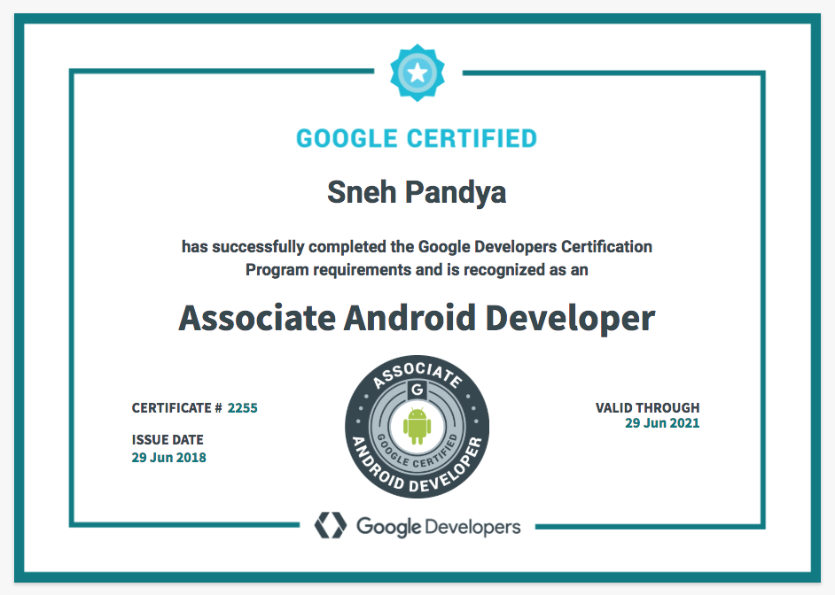 Conquering the Fears: Associate Android Developer Google Certification