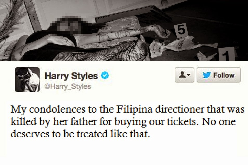 Directioner killed by her father after spending her tuition fee for the philippine trend reported filipina directioner killed by her father after spending her tuition fee for a one direction vip ticket m4hsunfo
