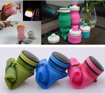 cc0aa0f361 Product: Collapsible Silicone Water Bottle. Function: It can be collapsible  and hung on your backpack or your waist when you finished the water.