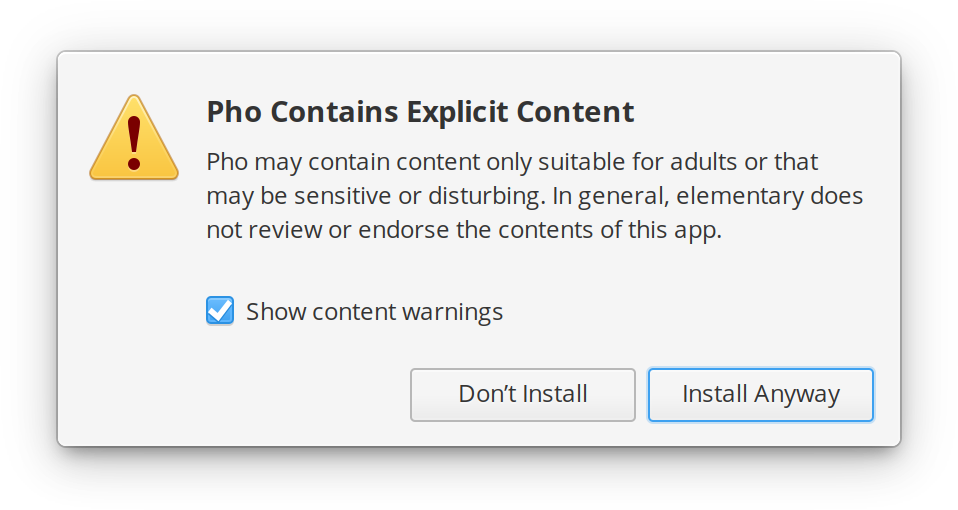 New Explicit Content Warning in AppCenter