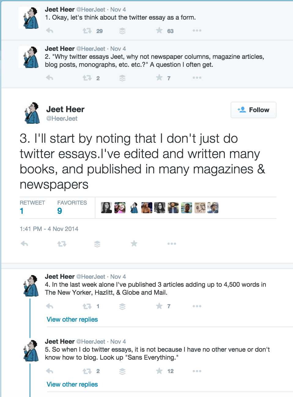 How To Write A Twitter Essay  Longer Than A Tweet  Medium A Classic Jeet Heer Twitter Essay On Twitter Essays In This Example