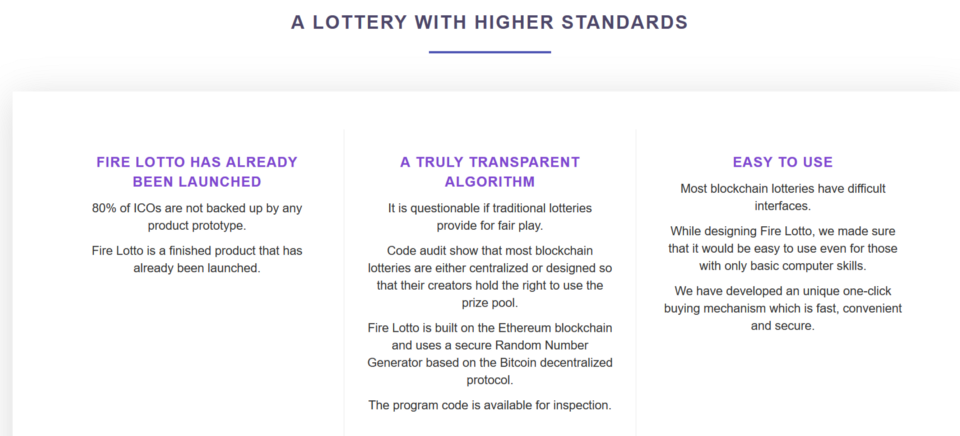 FIRELOTTO The world's hottest crypto lottery — Innovating