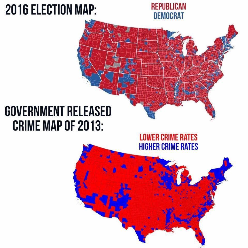 Fake Maps Claiming To Correlate Crime Rates And Democratic Votes Circulated Via Email