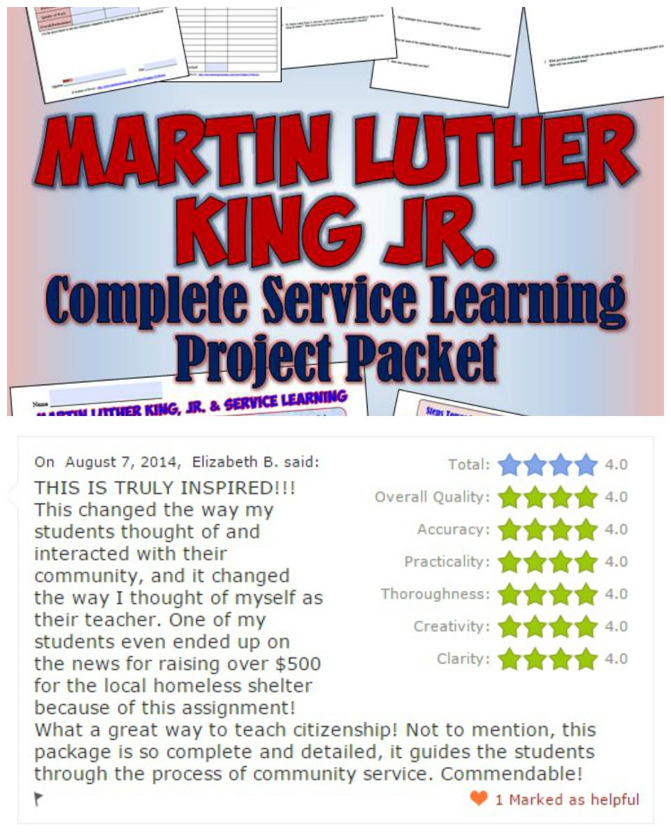 service learning through martin luther king: complete project packet