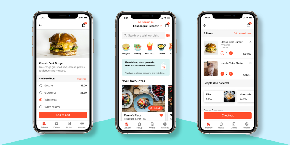 Several screenshots of the redesign