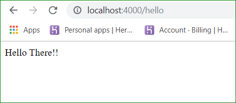/hello on localhost