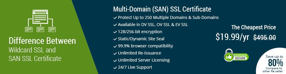 What\'s the difference between Multi-Domain and Wildcard SSL?