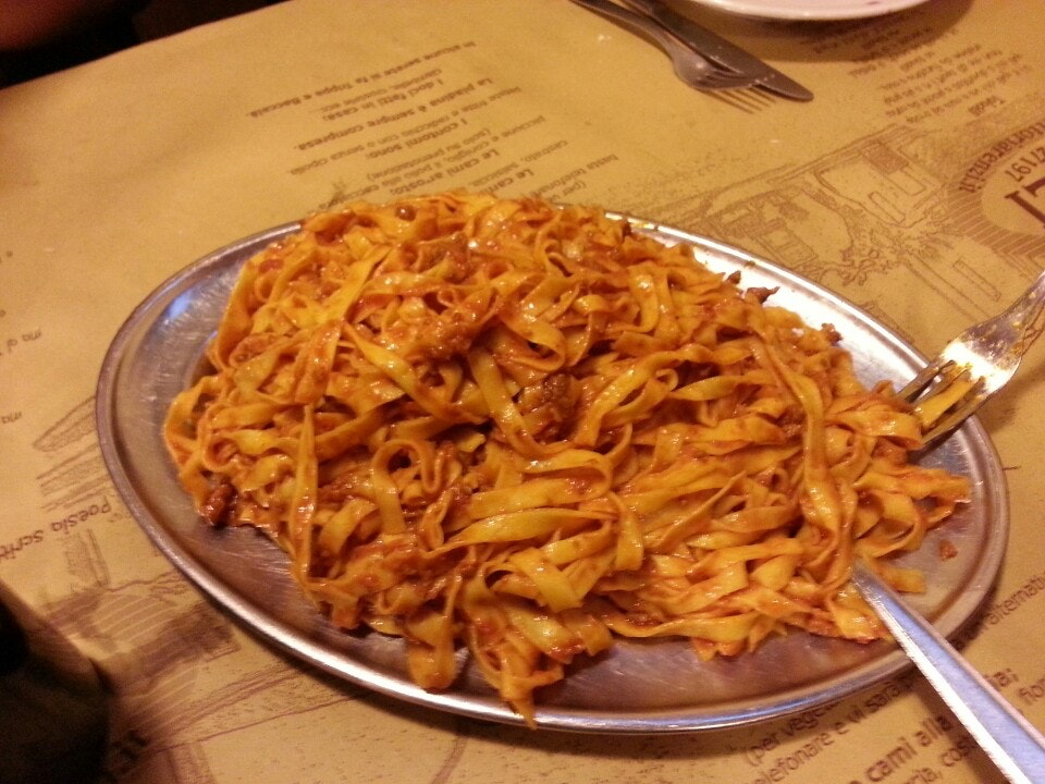 tagliatelle at restaurant ouside of Rimini