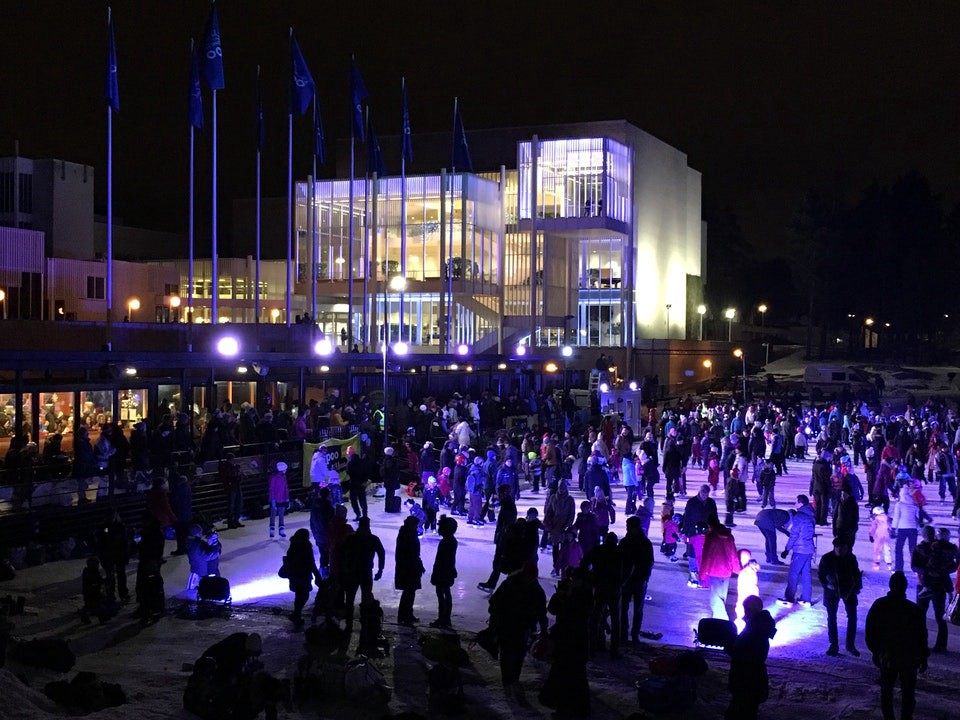 ice skating (Jääpuutarha) in Espoo
