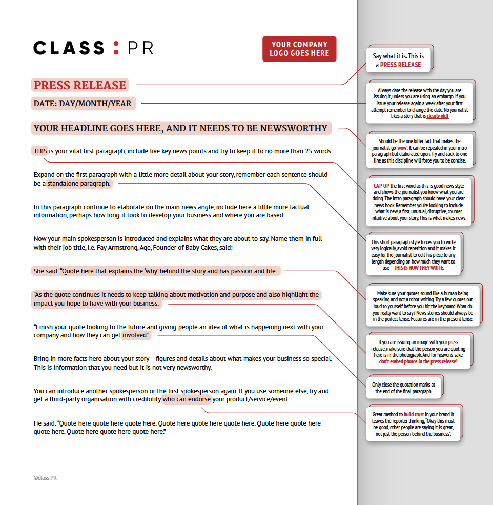 how to write a press release the definitive guide alistair clay