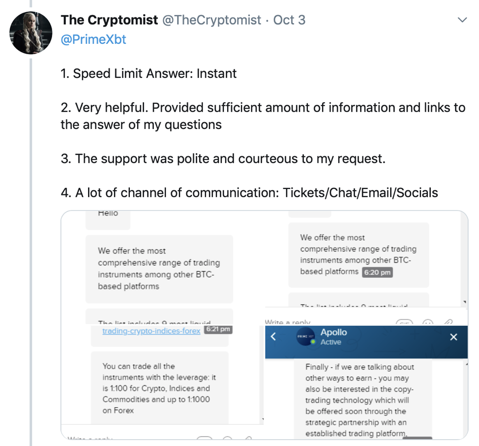 PrimeXBT Earns Top Honors in Independent Crypto Support Comparison