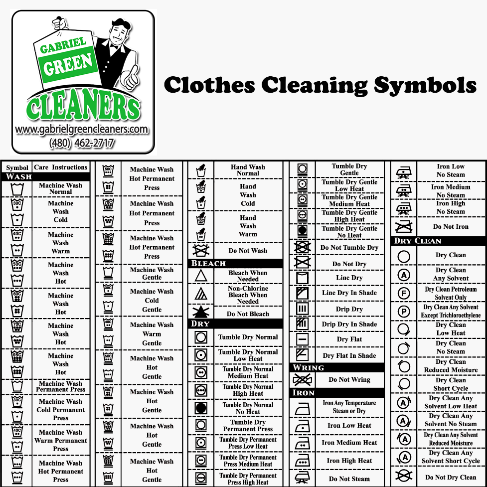 Clothes Cleaning Symbols By Gabriel Green Cleaners Gabriel Green