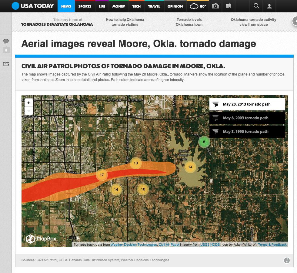 Capturing The Impact Of The Oklahoma Tornado Points Of Interest - Oklahoma location in usa